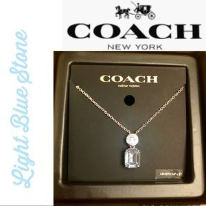 Coach Jewelry - COACH Necklace Silver w Blue Crystal Gorgeous 🌟